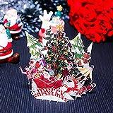 Gaddrt Grußkarte Grußkartenhalter 3D Pop Up Karte Weihnachtsfest Feiertag Frohe Weihnachten Grußkarten 14.5x17cm