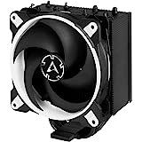 ARCTIC Freezer 34 eSports – Dissipatore di processore semi-passivo con ventola PWM 120 mm per Intel: 115x/2011-3/2066, AMD: AM4, Dissipatore per CPU con potenza di raffreddamento fino a 200W – Bianco
