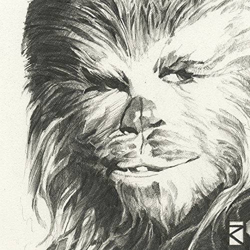 "Star Wars \""Chewbacca Sketch, 30 x 30 cm, Leinwanddruck"