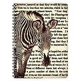 etmamu 444 Notizblock Zebra A5, 60 Blatt blanko