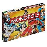 Winning Moves 022545 - Gioco da Tavolo Monopoly Dc Comics Retro, Versione Inglese