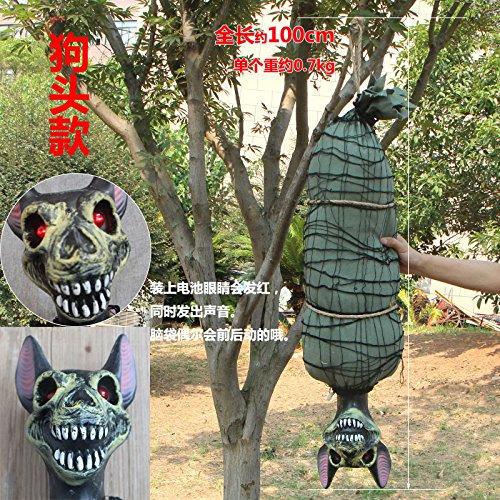 ChengBai Halloween big Ghost ghost Ghost hängenden Häuser aussetzen sind terroristische Requisiten sensing Stimme auf den Kopf barKTV virale Spielzeug hing, denn ein