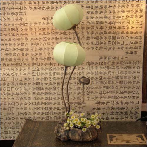 mulberry-rice-paper-ball-handmade-flower-buds-design-art-shade-green-round-globe-lantern-brown-asian
