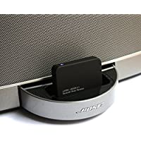 LAYEN i-DOCK 4.1 Bluetooth Music Receiver / Audio Adapter with Multi-Pair (Pair Two Devices!) & aptX (Superior Sound!) Turn your Docking Station Bluetooth. Stream Music Wirelessly from Your Bluetooth Transmitting Device; iPod, iPhone, iPad, Smartphone, Tablet, MP3 Player, PC, Laptop etc. Works with Amazon Echo (Not Suitable for Cars - See Below)