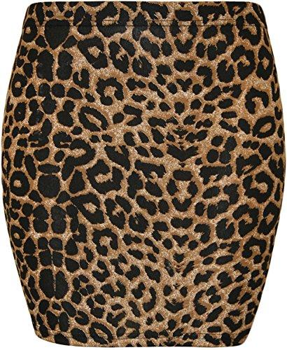 Chocolate Pickle Falda Corta con Estampado - de Color Leopardo marrón para Mujer de Talla 36-38