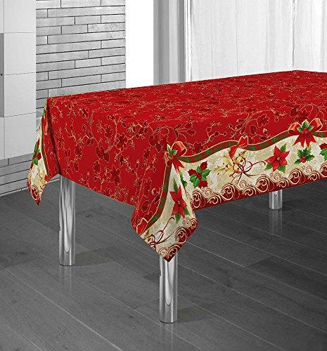 Manteles Red Flower Navidad Pascua estampados antimanchas Colores Primaverales Decoracion Hogar (300...
