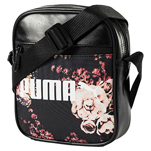 Puma Unisex Campus Portable Umhängetasche puma black-flower graphic