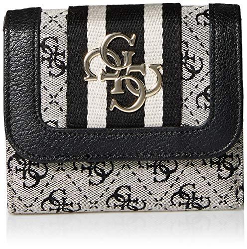 Guess Damen Vintage SLG Sml Trifold Münzbörse, Weiß (Black), 13x11x3 centimeters