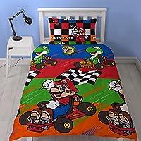 Nintendo Mario 'Champs' Single Duvet Set - Repeat Print Design