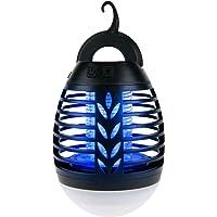 IREGRO Bug Zapper 2 en 1 Lampe Portable Tueur de Moustique LED Lanterne de Camping avec 3 Modes d'éclairage pour la…