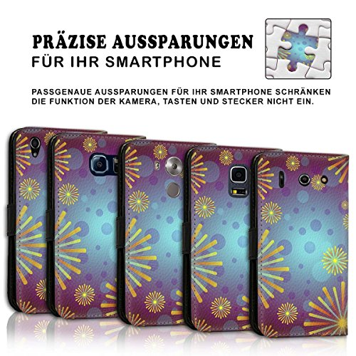 Wallet Book Style Flip Handy Tasche Case Schutz Hülle Schale Motiv Etui für Apple iPhone 6 Plus / 6S Plus - Variante UMV18 Design12 Design 11