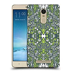 Snoogg Green Abstract Pattern Printed Protective Phone Back Case Cover For Xiaomi Redmi Note 3