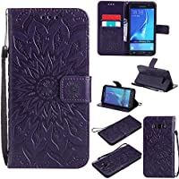 Samsung Galaxy J7 (2016) SM-J710 Case,BONROY® Samsung Galaxy J7 (2016) SM-J710 Mandala PU Leather Phone Holster Case, Flip Folio Book Case, Wallet Cover with Stand Function, Card Slots Money Pouch Protective Leather Wallet Case for Samsung Galaxy J7 (2016) SM-J710