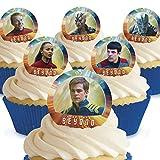 Cakeshop Lot de 12x prédécoupés Star Trek au-delà comestible pour gâteaux