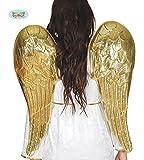 Engel goldene Flügel für Damen Weihnachten Karneval Fasching Party Himmel Engelsflügel 80 cm