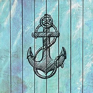 Digitaldruck / Poster Kimberly Allen - Sea Time 2 - 60 x 60cm - Premiumqualität - Ankeer, Symbol, Holzpanel, maritim, Grafik, Treppenhaus, Badezimmer, Wohnzimmer, he.. - MADE IN GERMANY - ART-GALERIE-SHOPde
