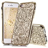 Slynmax Coque iPhone 6s Plus Or,Coque iPhone 6 Plus, Silicone Paillette Strass...
