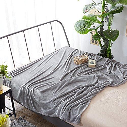 MAOMAOTAN Sommer Samtdecke Uni Coral Samt Decke Bettlaken Nickerchen Klimaanlage Decke Sofadecke Dünne Yogamatte, dunkelgrau, 230cmx250cm