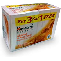 Himalaya Herbals Soap, Almond and Rose, 125g (Pack of 4)