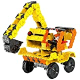 WEofferwhatYOUwant Bagger Kinder 3D Puzzle Bausatz - FLATBLOCKS 743 Teile (DIY)