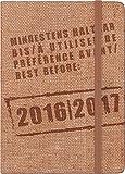 Brunnen Schülerkalender 2016/17 Stoff A6 Kalender 1T/1S Jute