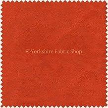 New suave tela de terciopelo ideal para persianas cojines cortinas sofás muebles Color Naranja–se vende por metro.