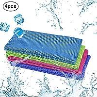 4pcs toalla de deporte refrescante KAKOO paño frío de toalla hielo fría instantánea de ejercicios de