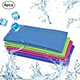 KAKOO 4 Piece Cooling Towel Instant Ice Soft Microfiber Towels for Gym Hot