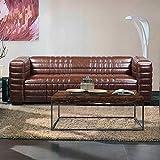 Pharao24 Couch im Retrostil Braun
