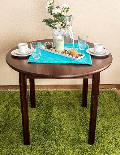 Tisch Kiefer massiv Vollholz Nussfarben 003 (rund) - Durchmesser 90 cm
