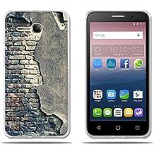 """FUBAODA, Funda Alcatel Pop 3 (5.5) 3G Carcasas Protección Gona de Alta Calidad, Protector de Silicona TPU Transparente y Fino, Pared Antigua, [Resiste a los Arañazos] [Antipolvo] Carcasas para Alcatel Pop 3 (5.5) 3G (5.5"""")"""
