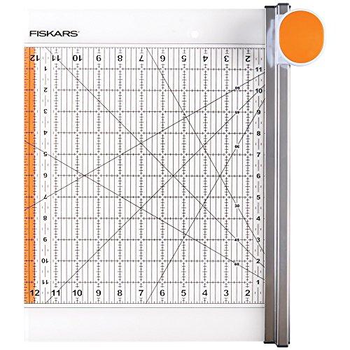 "NEU Fiskars 2-in-1 Rollmesser & Lineal, 12\"" x 12\"""