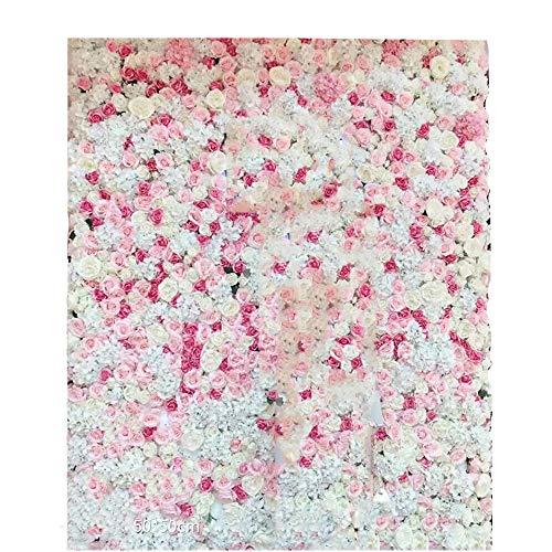 ochzeit Künstliche Romantische Fotografie Hintergrund Backdrops Mädchen Liebhaber Party Dekoration Blumen Wand  Studio Requisiten (Color : 1, Size : 50x50cm) ()