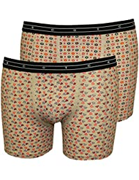 Scotch & Soda 2-Pack Dots Print Men's Boxer Briefs Gift Set, ECRU Melange