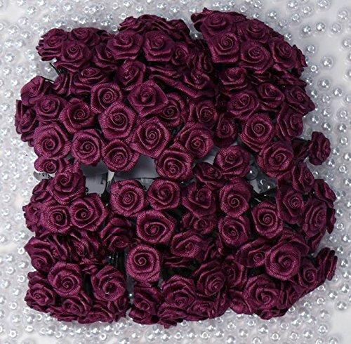 12 Bund = 144 St. Diorröschen Satinröschen Rosen bordeaux