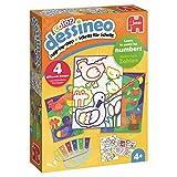 Jumbo Spiele 18623 Dessineo Color-Malen nach Zahlen-Bauernhof Kinderspiel