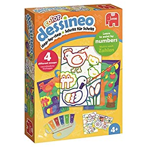 Dessineo Color - Paint by Numbers - Farm Kit de Pintura por números - Libros y páginas para Colorear (Kit de Pintura por números, Child, Niño/niña, 4 año(s), Alemán, Inglés, China)