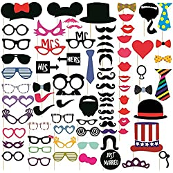 Syga Party Photo Booth Props - Set of 76