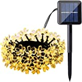 Cherry Blossom Solar String Lights, 7M 50 LED Waterproof Outdoor Decoration Lighting for Indoor/Outdoor, Patio, Lawn, Garden,