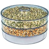 PAESANO Plastic Hygienic Sprout Maker with 3 Container Organic Home Making Fresh Sprouts Beans for Living Healthy Life Sprout
