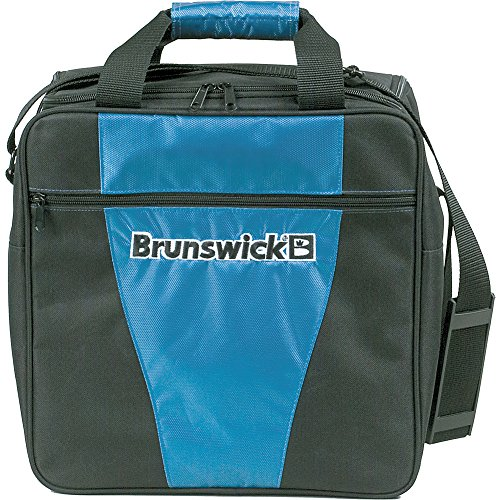 Brunswick Gear Single - Borsa da bowling, Blu , 35,5 cm Blu - blu