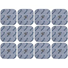 12 electrodos para Beurer e Hydas y Vitalcontrol SEM 40/42 /43/44 (45x45mm), almohadillas conexión con botón a presión, 3,5mm,