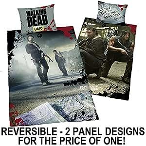 walking dead single panel dekbed cover bed set reversibele. Black Bedroom Furniture Sets. Home Design Ideas