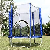 Tomasa 6ft Kindertrampolin mit Sicherheitsgepäck Netz Gartentrampolin bis 150kg Trampolin Indoor Outdoor