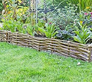 Bordure de jardin en noisetier tress h 15cm x l 2m jardin - Quand tailler un noisetier ...