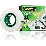 Scotch M8101910 tape Magic 810 cellulose acetaat, mat & onzichtbaar Magic 19 mm x 33 m mat/onzichtbaar