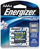 Energizer Ultimate Lithium-Batterien, AAA, 4-Count