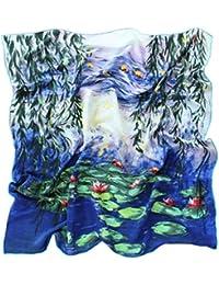 Prettystern - handrolliert Seidentuch 90 cm Kunstmotiv Claudia Monet 100 % Seide