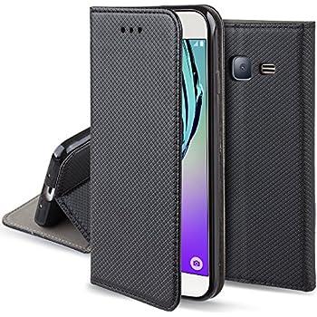Samsung EF-WJ320PBEG Etui à rabat pour Samsung Galaxy J3 (2016) Noir: Amazon.fr: High-tech