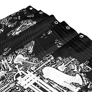 JSTEL – Cortina de ducha con diseño de mapamundi (poliéster, 72 x 72 pulgadas, resistente al moho, impermeable), diseño de mapamundi